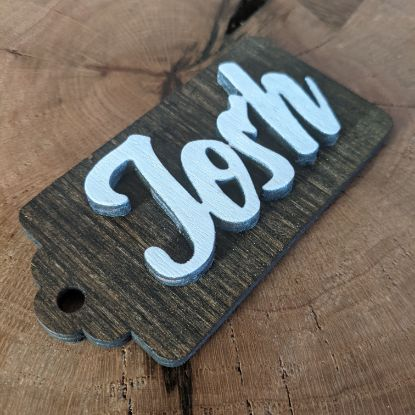 Picture of Name Tag Christmas Ornament